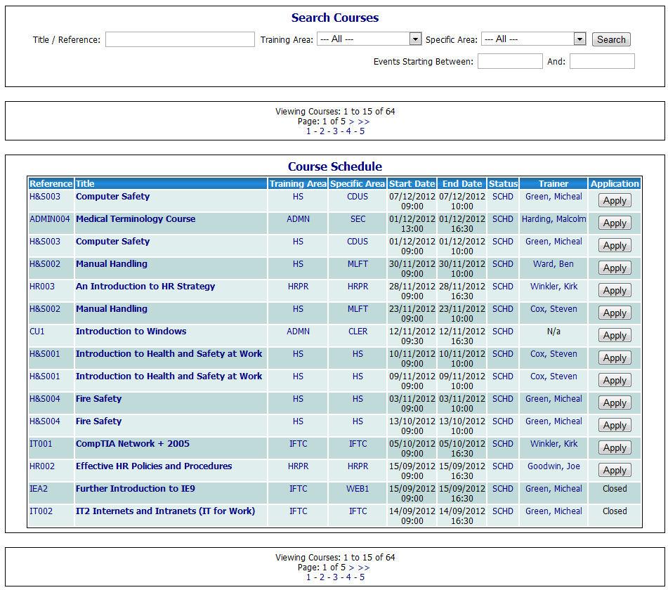 A-g courses list